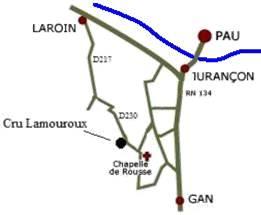 Plan du Cru Lamouroux - Jurançon