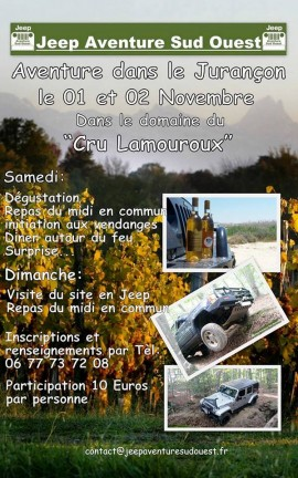 Programme Jeep Aventure Sud-Ouest