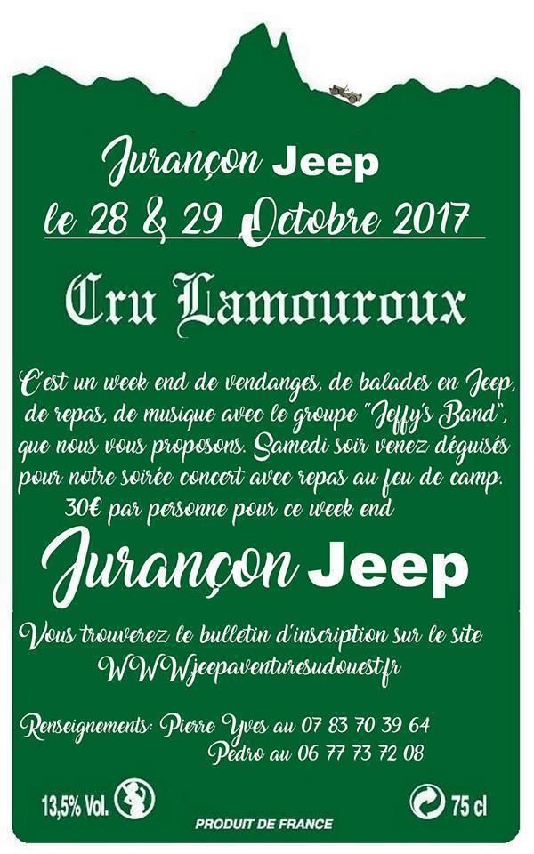 Programme Jurançon Jeep 2017